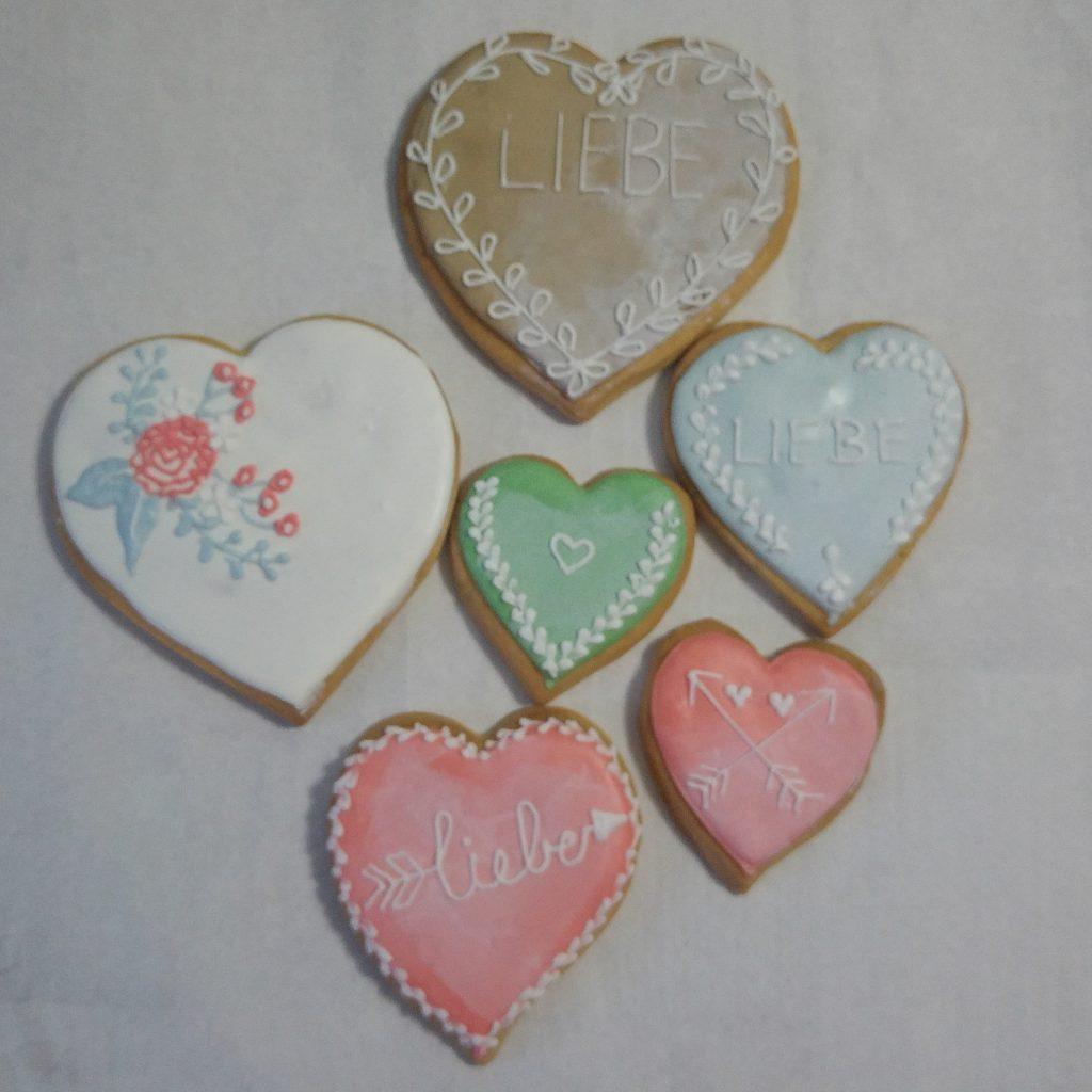 Set Valentinstags-Kekse, Valentines Cookies
