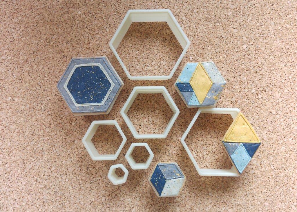Geometrie-Liebe mit Hexagon Ausstechern