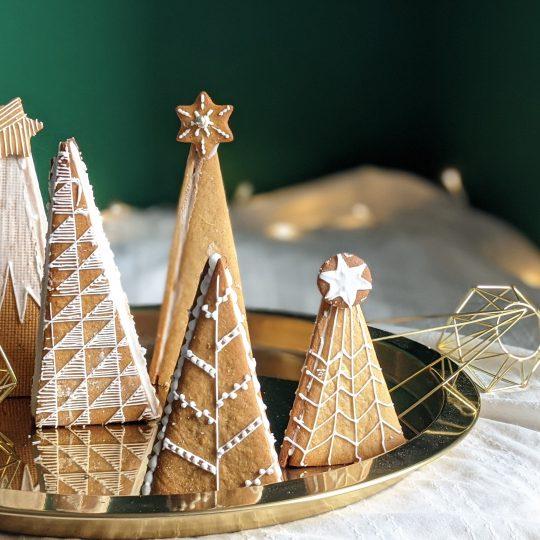 Lebkuchen-Weihnachtsbäume