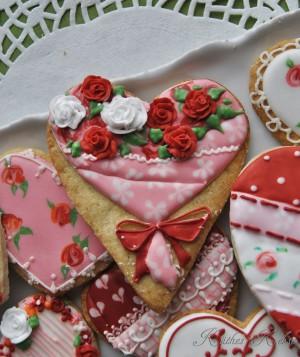Valentinstags-Herzen… Vergleich von 10 roten und rosa Pastenfarben